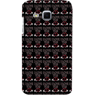 ifasho Animated Pattern With Love and heart and I love you Back Case Cover for Samsung Galaxy J3