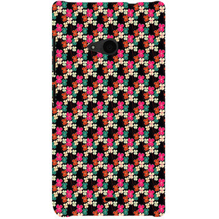 ifasho Animated Pattern design colorful flower in black background Back Case Cover for Nokia Lumia 535