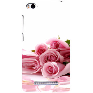 ifasho Red Rose bunch Back Case Cover for Redmi Mi4i