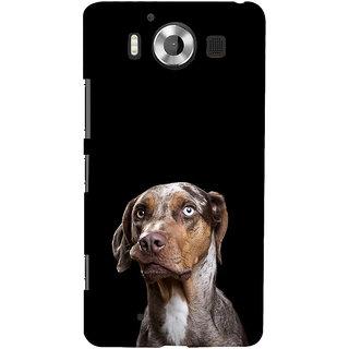 ifasho black Dog Back Case Cover for Nokia Lumia 950