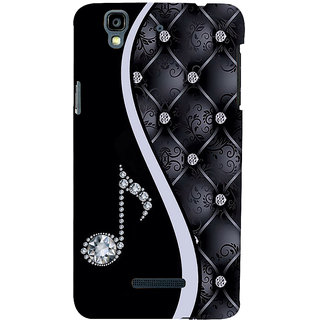ifasho Modern Art Design Pattern Music symbol Back Case Cover for YU Yurekha