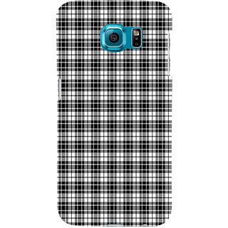 ifasho Modern Theme of black and white Squre lines Back Case Cover for Samsung Galaxy S6
