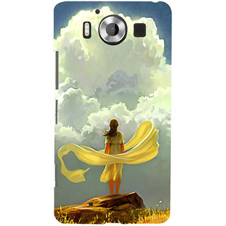 ifasho Girl waiting art work painting Back Case Cover for Nokia Lumia 950