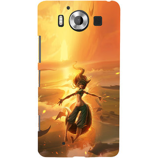 ifasho Girl in water animated Back Case Cover for Nokia Lumia 950