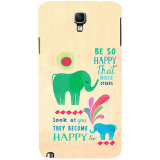 ifasho life Quotes on happiness Back Case Cover for Samsung Galaxy Note3 Neo