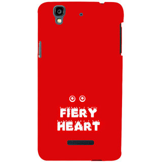 ifasho Fiery Heart modern quotes Back Case Cover for YU Yurekha