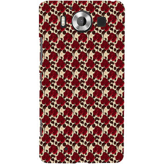 ifasho Animated Pattern rose flower with leaves Back Case Cover for Nokia Lumia 950