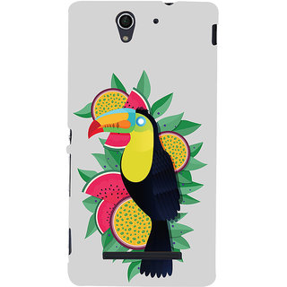 ifasho wood peacker Bird sitting animated design Back Case Cover for Sony Xperia C3 Dual