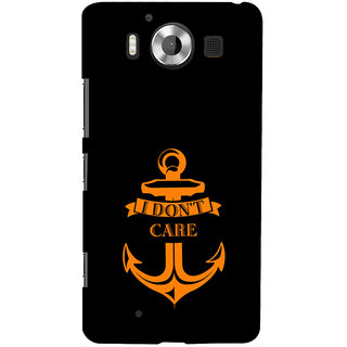 ifasho I dont care quotes Back Case Cover for Nokia Lumia 950