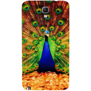 ifasho Beautiful Peacock Back Case Cover for Samsung Galaxy Note3 Neo