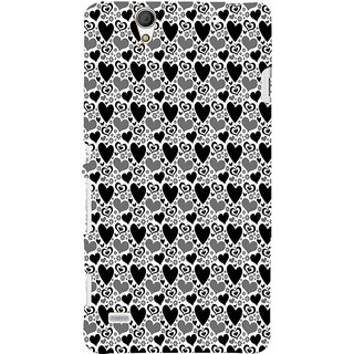 ifasho Modern Art Design Pattern with Lot Of small heart Back Case Cover for Sony Xperia C4