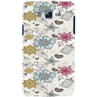 ifasho Animated Pattern colrful design flower and cage and hen Back Case Cover for Samsung Galaxy J5
