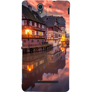 ifasho Venice City Back Case Cover for Sony Xperia C3 Dual