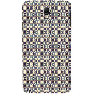 ifasho Colour Full Square Pattern Back Case Cover for Samsung Galaxy Note3 Neo