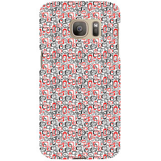 ifasho Modern Theme of colorful Squre inside square and dots Back Case Cover for Samsung Galaxy S7 Edge