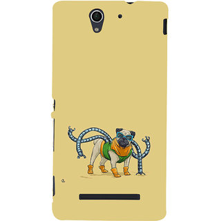 ifasho Dog with colourful  Specs Back Case Cover for Sony Xperia C3 Dual