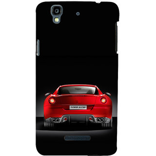 ifasho Red Stylish Car from back side Back Case Cover for YU Yurekha
