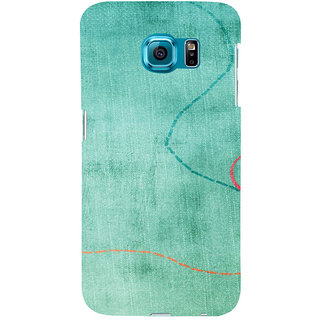 ifasho Animated Pattern colrful 3Daditional design cloth pattern Back Case Cover for Samsung Galaxy S6