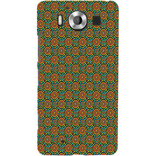 ifasho Animated Pattern design colorful flower in white background Back Case Cover for Nokia Lumia 950