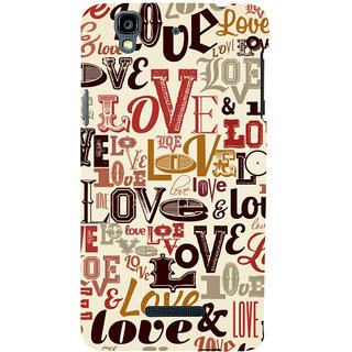 ifasho Love pattern Back Case Cover for YU Yurekha
