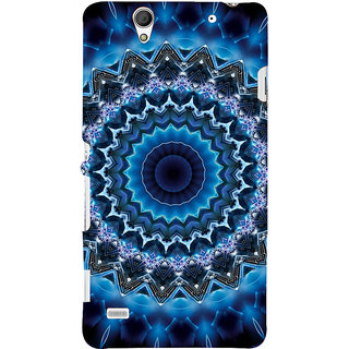 ifasho Animated Pattern design colorful flower in royal style Back Case Cover for Sony Xperia C4