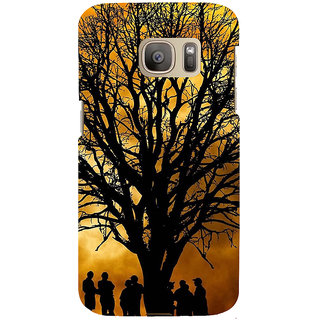 ifasho 3Dee Painting with people  Back Case Cover for Samsung Galaxy S7 Edge