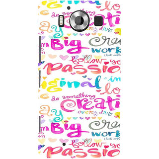 ifasho Motivatinal Quote Back Case Cover for Nokia Lumia 950