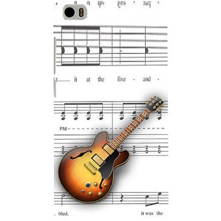 ifasho Modern Art Design Pattern Music Ins3Dument Guitar Back Case Cover for Redmi Mi5