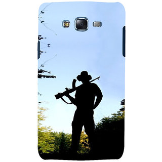 ifasho Army man With Gun Back Case Cover for Samsung Galaxy J5