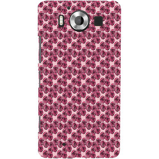 ifasho Animated Pattern small purple rose flower Back Case Cover for Nokia Lumia 950