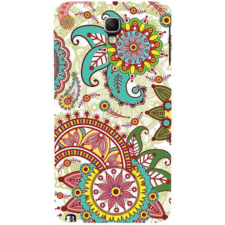 ifasho Animated Pattern colrful design flower with 3Daditional design Back Case Cover for Samsung Galaxy Note3 Neo