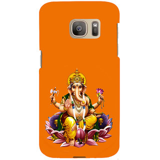 ifasho Lord Ganesha Back Case Cover for Samsung Galaxy S7 Edge