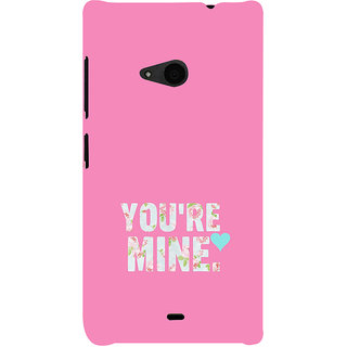 ifasho Love Quotes you are mine Back Case Cover for Nokia Lumia 535