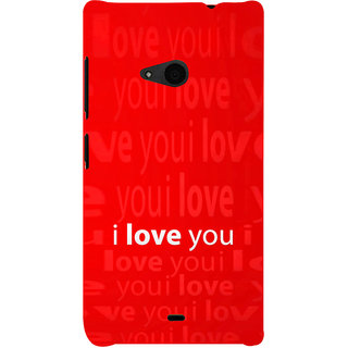 ifasho Love Quotes I love you Back Case Cover for Nokia Lumia 535