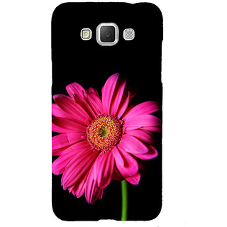ifasho Flower Design Pink flower in black background Back Case Cover for Samsung Galaxy Grand Max