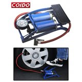 Coido Foot Air Pump Compressor 8Cm Twin Cylinder For Bike & Car