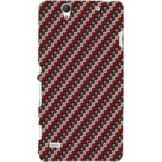 ifasho multi color 3Diangle rectangle and circle Pattern Back Case Cover for Sony Xperia C4