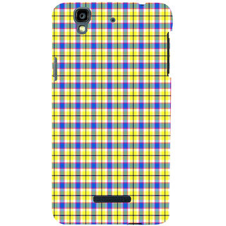 ifasho Colour Full yellow Squre Pattern Back Case Cover for YU Yurekha