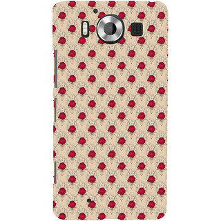ifasho Animated Pattern small red rose flower Back Case Cover for Nokia Lumia 950