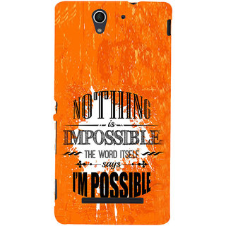 ifasho Good Quote on Achivement Back Case Cover for Sony Xperia C3 Dual