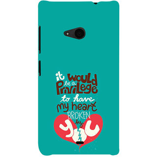 ifasho Heart Break Girl Back Case Cover for Nokia Lumia 535