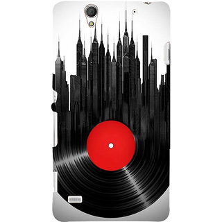 ifasho gramophone recod animated design as tower Back Case Cover for Sony Xperia C4
