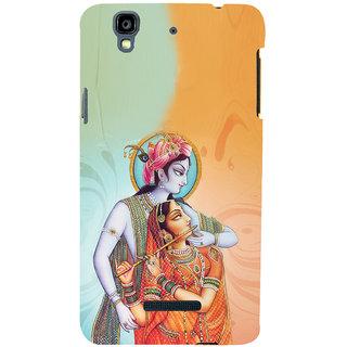 ifasho Lord Krishna and Meera Back Case Cover for YU Yurekha