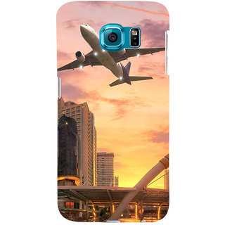 ifasho aeroPlane flying in city Back Case Cover for Samsung Galaxy S6 Edge Plus