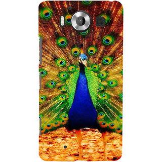 ifasho Beautiful Peacock Back Case Cover for Nokia Lumia 950