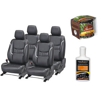 Pegasus Premium Seat Cover for  Toyota Innova With Aerozel Wild Mist Gel Perfume and Dashboard polish