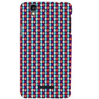 ifasho Colour Full Square Pattern Back Case Cover for YU Yurekha