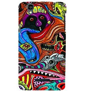 ifasho Modern Art Om design pattern Back Case Cover for YU Yurekha