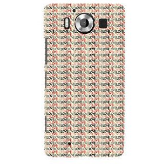 ifasho Animated Pattern With Love writing Back Case Cover for Nokia Lumia 950
