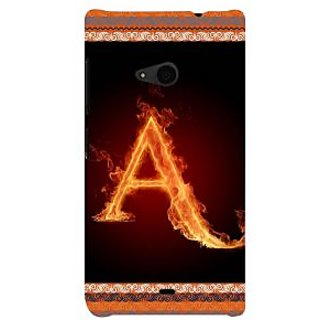 ifasho alphabet name series A Back Case Cover for Nokia Lumia 535